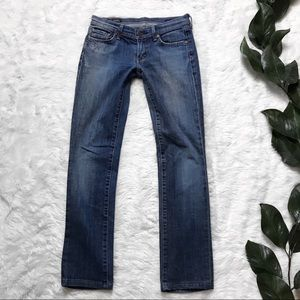 Citizens Of Humanity Low Waist Straight Leg Jeans